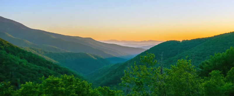 Great Smoky Mountains National Park Sunrise