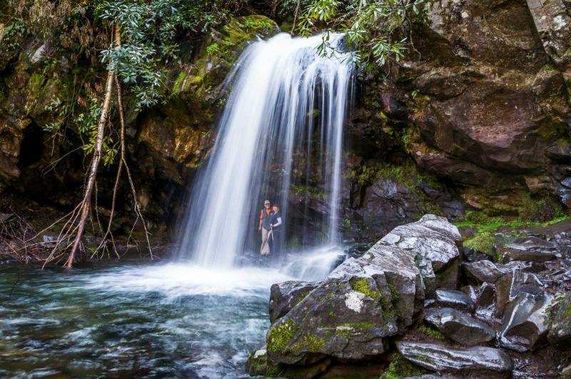 Grotto Falls Walk Behind a Waterfall