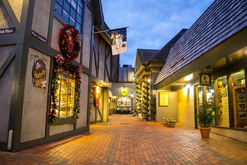 Village Gatlinburg Buildings Marketplace in Evening Light