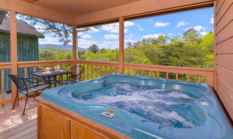 Watch the sunset from the hot tub on the rear deck